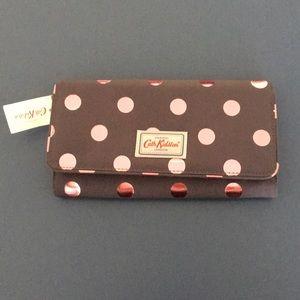 Cath Kidston London Large Polka dot Wallet (NWT)